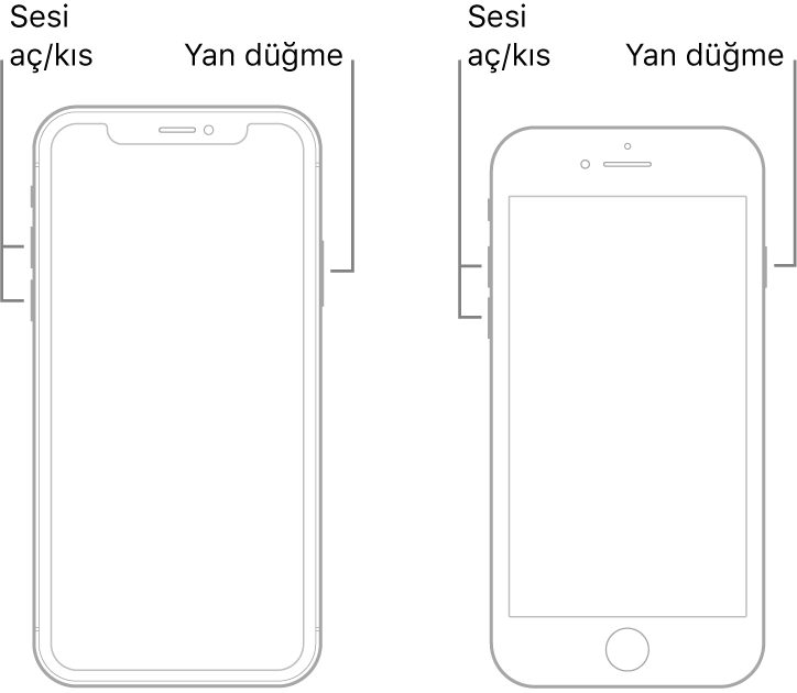 iPhone cihazım açılmıyor! Nasıl düzeltebilirim? 3 – iPhone X iPhone 8 iPhone 8 Plus'ta yeniden başlatmaya zorlama