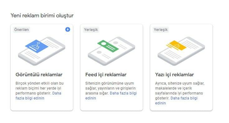 Google Adsense Link - Metin Reklamlar Oluşturma 1 – adsense