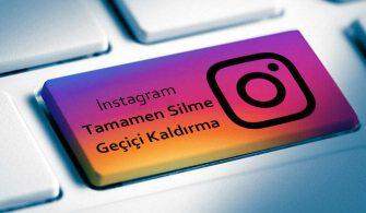 Instagram Hesabı Silme Linki Kesin Çözüm 2020