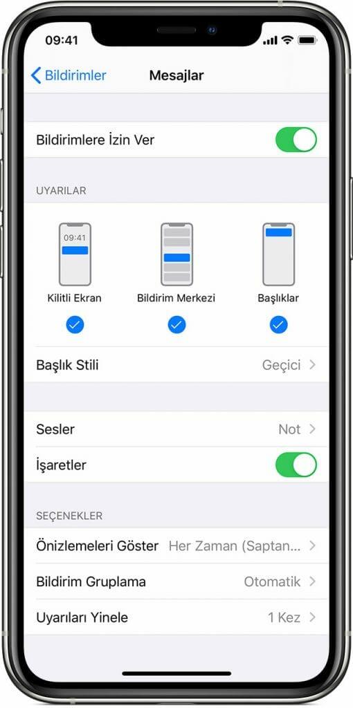 İPhone'da Mesaj Önizleme Nasıl Kapatılır? 3 – ios13 iphone xs settings notifications messages