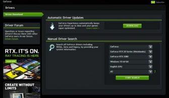 nvidia sürücü güncelleme