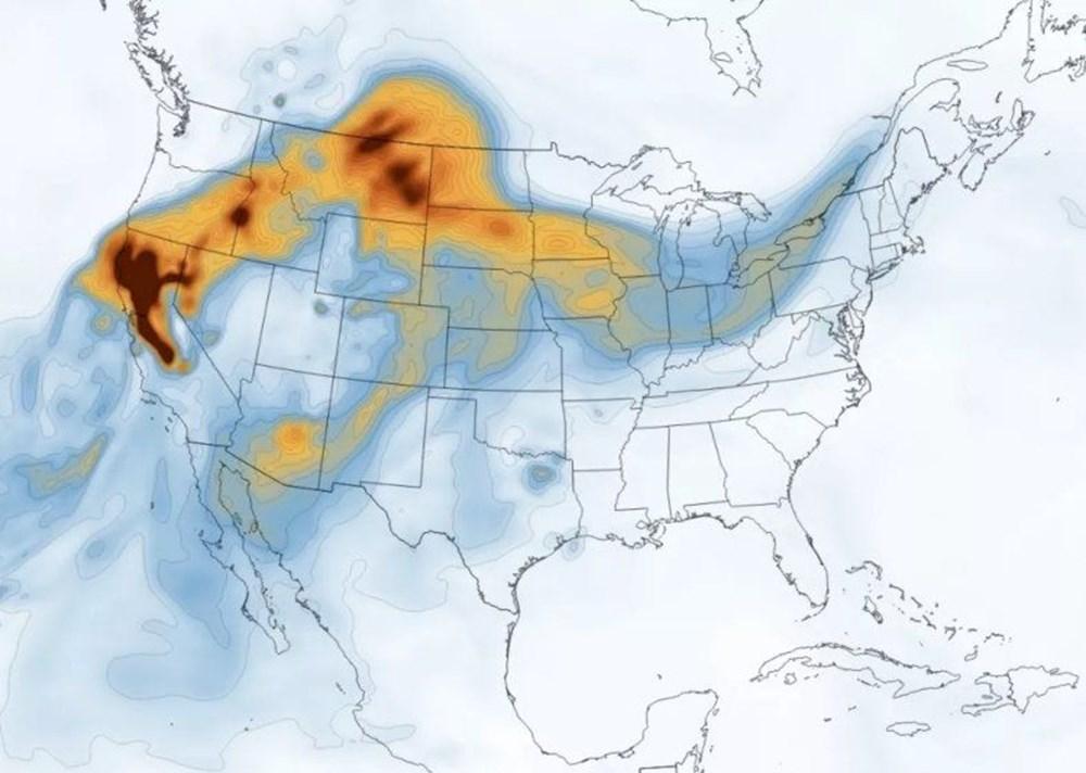 NASA, Kaliforniya daki yangınların uydu görüntülerini paylaştı #2