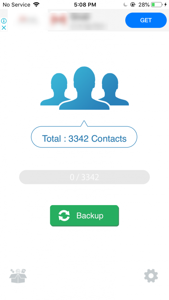 backup iphone contacts