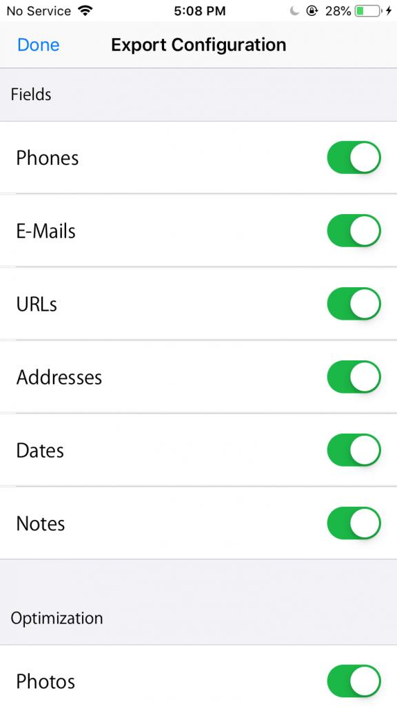 Kişileri iPhone'dan Android'e aktarmanın 4 yolu 10 – contact export configuration