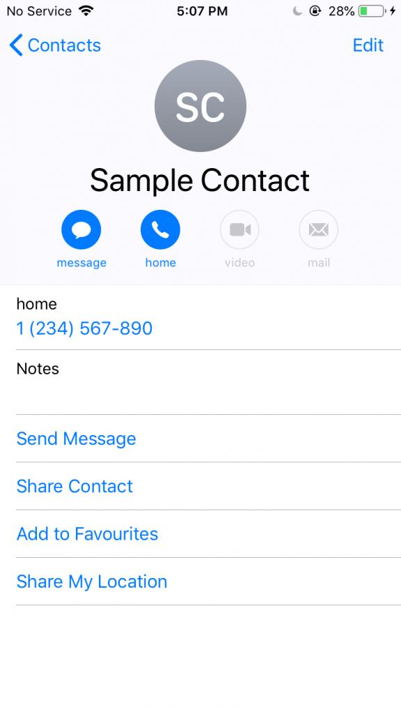 Kişileri iPhone'dan Android'e aktarmanın 4 yolu 8 – share contact