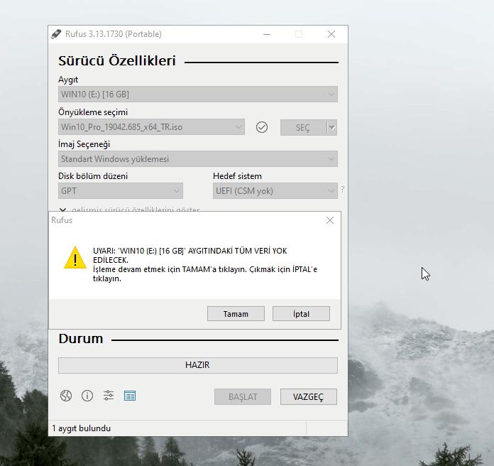Bir ISO dosyasını bir USB sürücüsüne nasıl yazabilirim 7 – rufus7