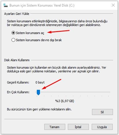 Windows 10 da Sistem Geri Yükleme Çalışmıyor Sorunu Düzeltme 5 – sistem geri yukleme