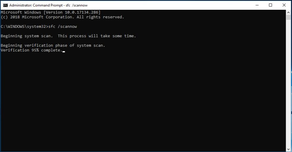 Windows 10 da Sistem Geri Yükleme Çalışmıyor Sorunu Düzeltme 19 – windows 10 sfc scannow