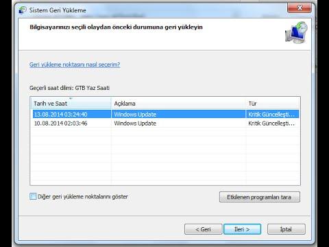 Windows 10 da Sistem Geri Yükleme Çalışmıyor Sorunu Düzeltme 14 – windows 10 sistem geri yukleme2