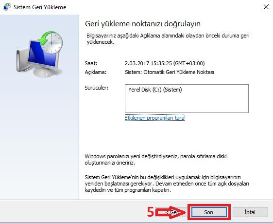Windows 10 da Sistem Geri Yükleme Çalışmıyor Sorunu Düzeltme 15 – windows 10 sistem geri yukleme5