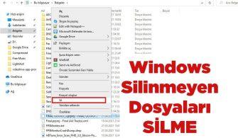 Windows Silinmeyen Dosyalar Nasıl Silinir-kapak